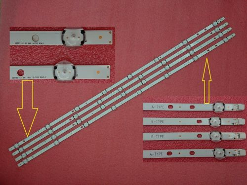 "SET LG LED BAR 43"" DRT UHD A' - B"" TYPE LED BAR 4 PCS"