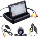"OEM 4.3"" Fold Monitor+ 2.4G Wireless Car Rear Front View Parking Camera kit CCD (ΠΛΗΡΕΣ SET)"