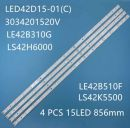 JVC LT-42C550 REFURBISHED LED BAR LED42D15-01